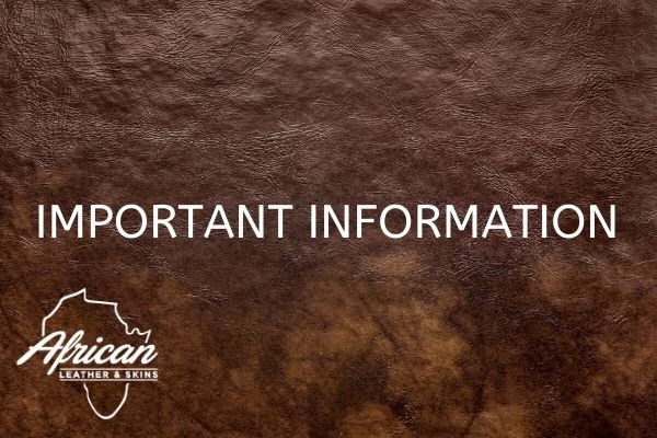 Please Take Note - African Leather will be trading as normal